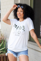 Dress Up model wearing the Plant Lady Graphic Tee