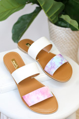 Front View of the Tie-Dye Sandals