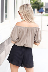 Pleated Shorts Back View