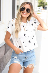 Model wearing the Cropped Star Tee