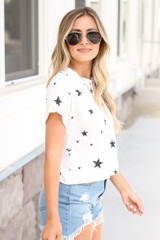 Cropped Star Tee Side View