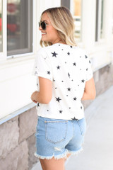 Cropped Star Tee Back View