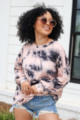 Peach - Oversized Tie-Dye Pullover from Dress Up