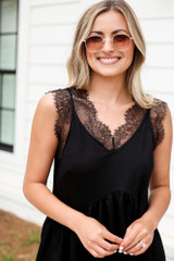 Black - Lace Babydoll Tank from Dress Up