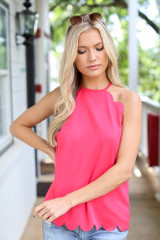 Pink - Scalloped Tank from Dress Up