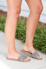 Spotted - Model wearing the Studded Slip On Sandals