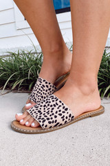 Spotted - Flat Lay of the Studded Slip On Sandals