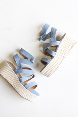 Flat Lay of the Strappy Platform Espadrilles