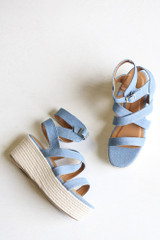 Close Up of the Strappy Platform Espadrilles
