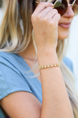 Gold - Floral Cuff Bracelet from Dress Up