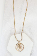 Gold - Lion Pendant Necklace from Dress Up