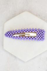 Purple - Beaded Hair Clip from Dress Up