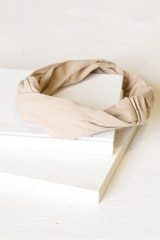 Tan - Flat Lay of the Knotted Headband
