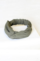 Olive - Front View of the Knotted Headband