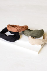 Flat Lay of all 4 of the Knotted Headbands