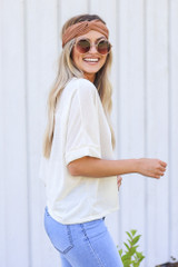 Textured Oversized Top Side View