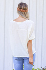 Textured Oversized Top Back View