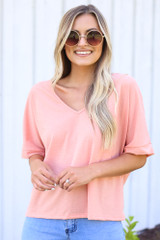 Textured Oversized Top Front View
