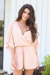 Peach - cute rompers at dress up boutique