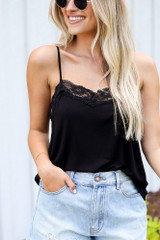 Black - Lace Tank from Dress Up