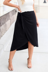 Black - midi skirt at shopdressup