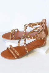 Camel - Studded Sandals from Dress Up