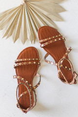 Flat Lay of the Studded Sandals