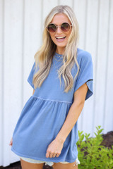 Denim - Babydoll Top