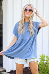 Denim - Babydoll Top from Dress Up