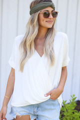 White - Surplice Top