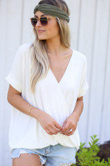White - Surplice Top from Dress Up