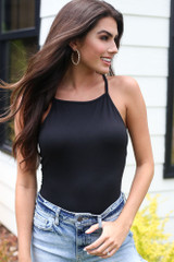 Black - Square Neck Bodysuit