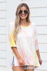 Light Pink - Oversized Tie-Dye Top from Dress Up