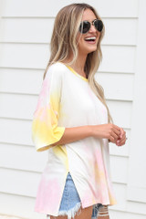 Oversized Tie-Dye Top Side View