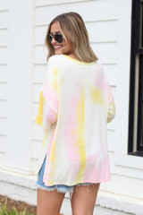 Oversized Tie-Dye Top Back View