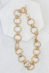 Flat Lay of the Chain Link Choker