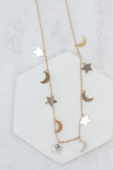 Flat Lay of the Celestial Necklace