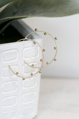 Gold - Ball Textured Hoops