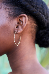 Gold - Ball Textured Hoops from Dress Up
