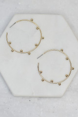 Close Up of the Ball Textured Hoops