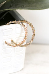 Close Up of the Textured Hoop Earring Set