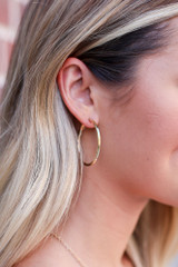 Gold - Small Hoop Earrings