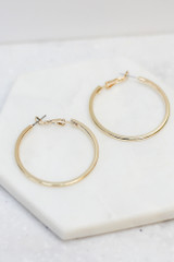 Flat Lay of the Small Hoop Earrings