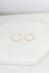 Flat Lay of the Dainty Ring Set
