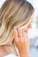 Model wearing the Dainty Ring Set