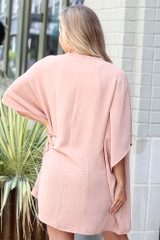 Lightweight Kimono in Nude Back View