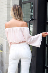 Bell Sleeve Crop Top Back View