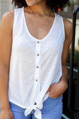 White - Knotted Tank from Dress Up