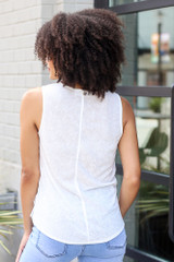 Knotted Tank in White Back View