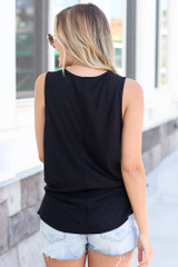 Knotted Tank in Black Back View